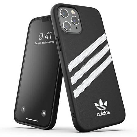 Adidas OR Moulded Case PU iPhone 12 Pro Max czarno biały/ black white