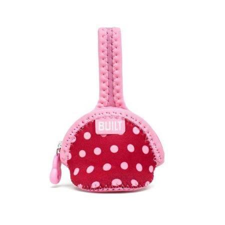 BUILT Paci-Finder - Pokrowiec na smoczek (Baby Pink Mini Dots)