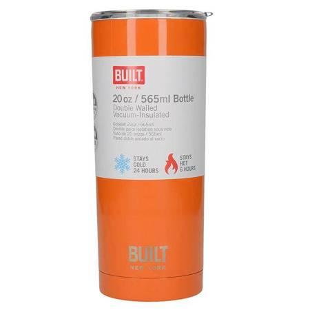 BUILT Vacuum Insulated Tumbler - Stalowy kubek termiczny z izolacją próżniową 600 ml  (Orange)