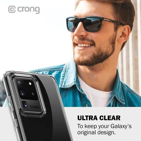 Crong Crystal Shield Cover - Etui Samsung Galaxy S20 (przezroczysty)
