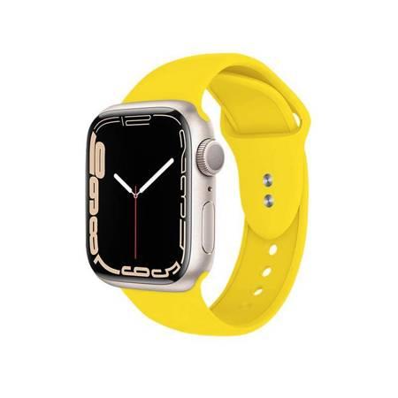 Crong Liquid Band - Pasek do Apple Watch 42/44 mm (żółty)