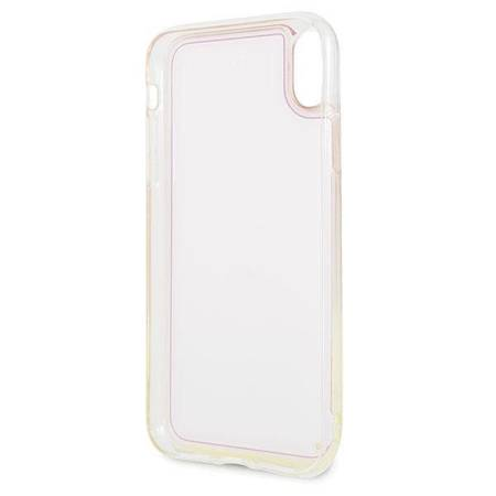 Guess GUHCI61GLCPI iPhone Xr różowy /pink hard case California Glow in the dark