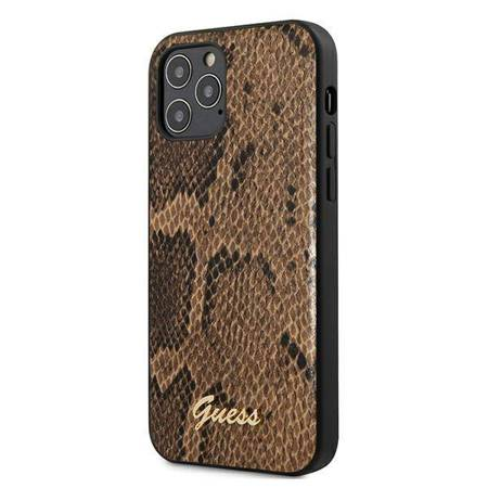 Guess Python Collection - Etui iPhone 12 Pro Max (brązowy)