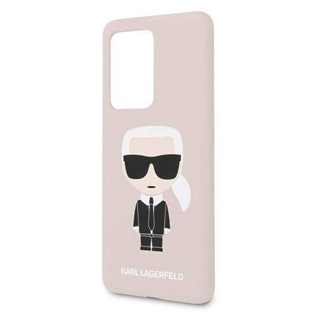 Karl Lagerfeld Fullbody Silicone Iconic - Etui Samsung Galaxy S20 Ultra (Light Pink)