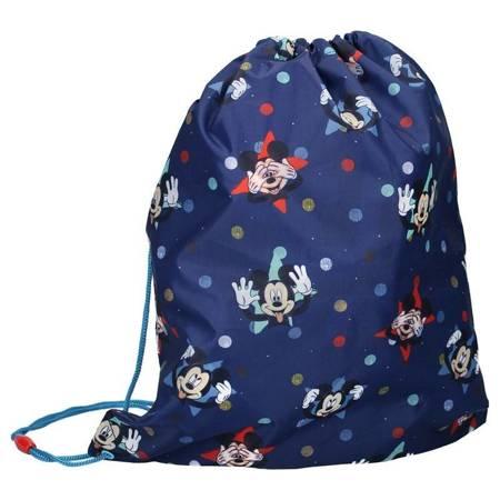 Mickey Mouse - Worek niebieski na buty, gimnastykę (44 x 37 cm)