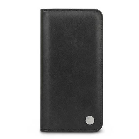 Moshi Overture - Etui 2w1 iPhone 12 Pro Max z kieszeniami na karty + stand up (system SnapTo) (Jet Black)