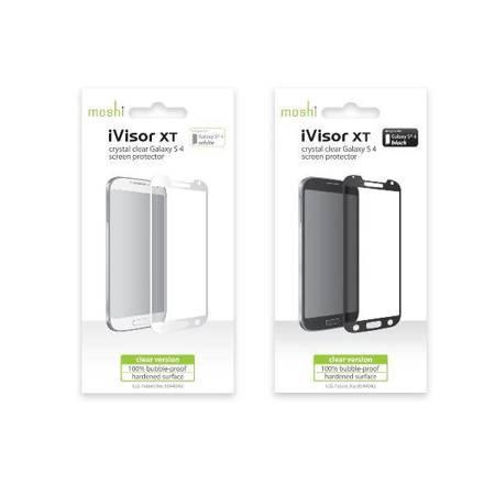 Moshi iVisor XT - Przezroczysta folia ochronna Full Face Samsung Galaxy S4 (biały)