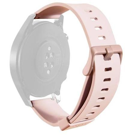 PURO ICON Multibrand Wristband – Uniwersalny pasek smartwatch 20 mm (S/M & M/L) (piaskowy róż)