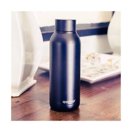 Quokka Solid - Butelka termiczna ze stali nierdzewnej 510 ml (Jet Black)