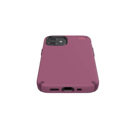 Speck Presidio2 Pro - Etui iPhone 12 Mini z powłoką MICROBAN (LSH Burgundy)