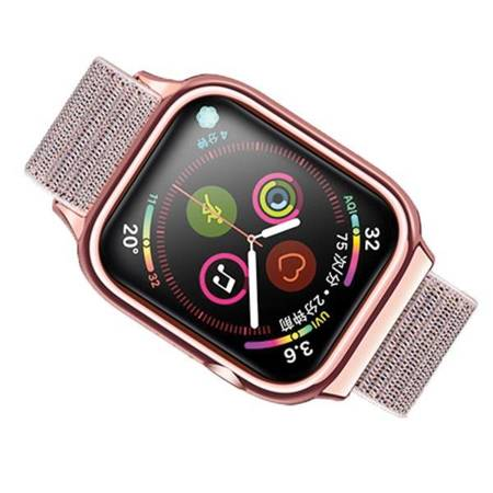 USAMS Pasek z etui Apple Watch 4 40mm. różowo-złoty/rose gold ZB73IW4 (US-ZB073)