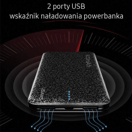 USAMS Powerbank Mosaic 5000 mAh biały/white 5KCD2002 (US-CD20)