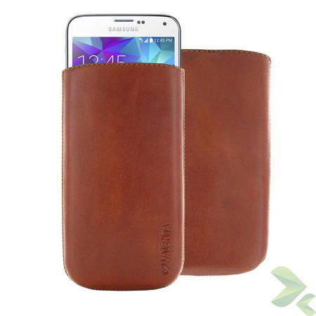 Valenta Pocket Classic - Skórzane etui wsuwka Samsung Galaxy S5, Sony Xperia Z i inne (brązowy)