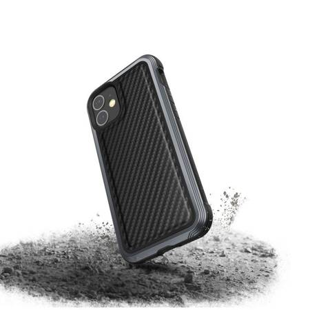 X-Doria Raptic Lux - Etui aluminiowe iPhone 12 Mini (Drop test 3m) (Black Carbon Fiber)