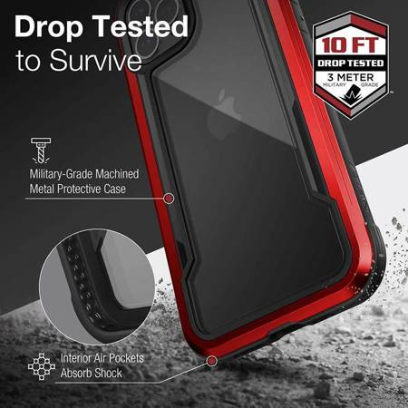 X-Doria Raptic Shield - Etui aluminiowe iPhone 12 Pro Max (Drop test 3m) (Red)